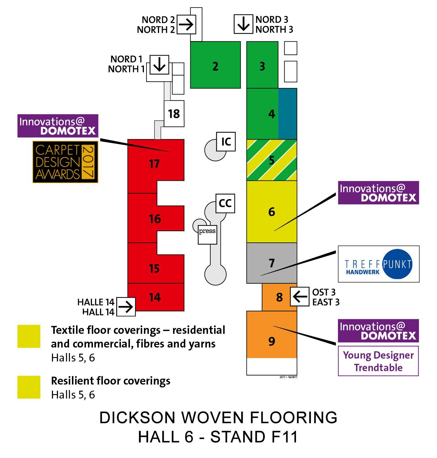 Domotex map